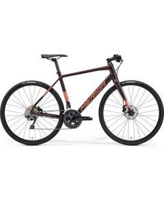 Merida Speeder 900 Flat Bar Road Bike Matt Burgundy Red/Silver (2022)