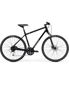 Merida Crossway 100 Hybrid Bike Glossy Black/Matt Silver (2021)