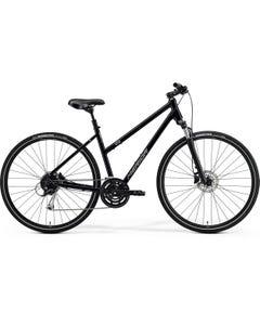 Merida Crossway 100 Women's Hybrid Bike Glossy Black/Matt Silver (2021)