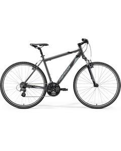 Merida Crossway 10 V Hybrid Bike Silk Anthracite Grey/Black (2021)