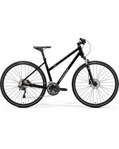 Merida Crossway 500 Women's Hybrid Bike Glossy Black/Matt Silver (2021)