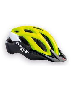 MET Crossover 18 Helmet Safety Yellow/White/Blk