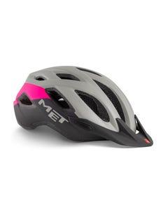 MET Crossover Helmet Grey/Pink (52 - 59cm)