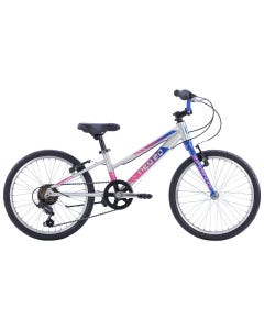 """Neo Kids Bike 20"""" 6-Speed Brushed Alloy Navy Blue/Pink Fade (2022)"""