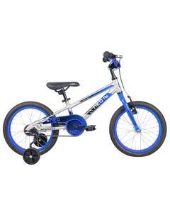 Neo Kids Bike 16 Silver with Blue Black Fade (2021)