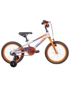 Neo Kids Bike 16 Silver with Orange Navy Fade (2021)