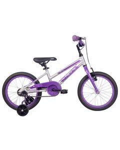 Neo Kids Bike 16 Silver with Lavender Purple Fade (2021)