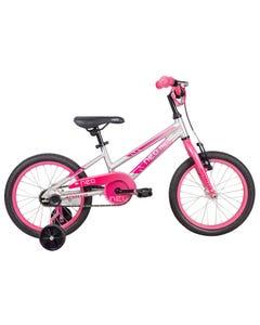 Neo Kids Bike 16 Silver with Pink Dark Pink Fade (2021)