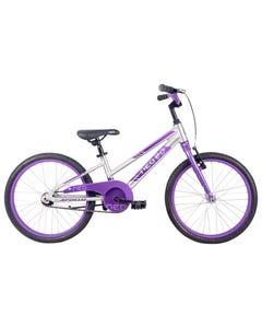 Neo Kids Bike 20 Silver with Lavender Purple Fade (2021)