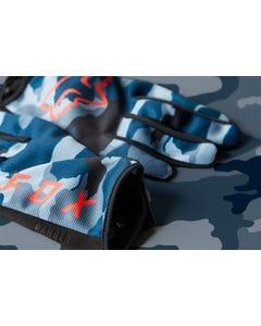 FOX Ranger Refuel Full Finger Gloves Blue Camo