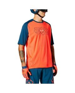 FOX Defend Short Sleeve Jersey Atomic Punch