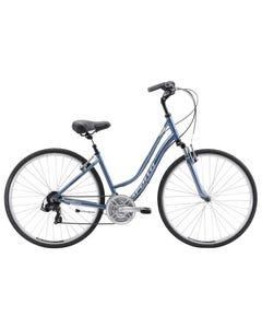 Apollo Shoreline Women's Hybrid Bike Gloss Slate Blue/Silver/Navy Blue (2019)