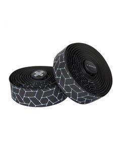 Burgh Silk White Bar Tape Black 2.5mm