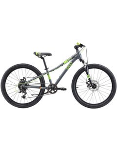 Silverback Skid 24D SE Suspension Kids Bike Charcoal / Lime (2021)