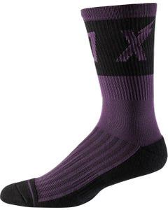 "FOX Trail Cushion 8"" Socks Dark Purple"