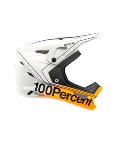 Helmet Fullface 100% Status Carby/Silver