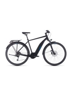 Cube Touring Hybrid ONE 500 Electric Mountain Bike Black/Blue (2020)