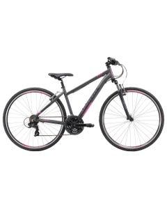 Apollo Transfer 10 Women's Hybrid Bike Matte Charcoal/Matte Black/Matte Pink (2019)