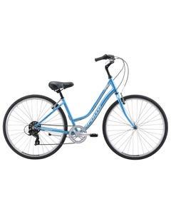 Apollo Villa Women's Hybrid Bike Gloss Blue/White Slate (2019)