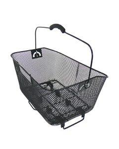 Wire Mesh Rear Basket Black QR