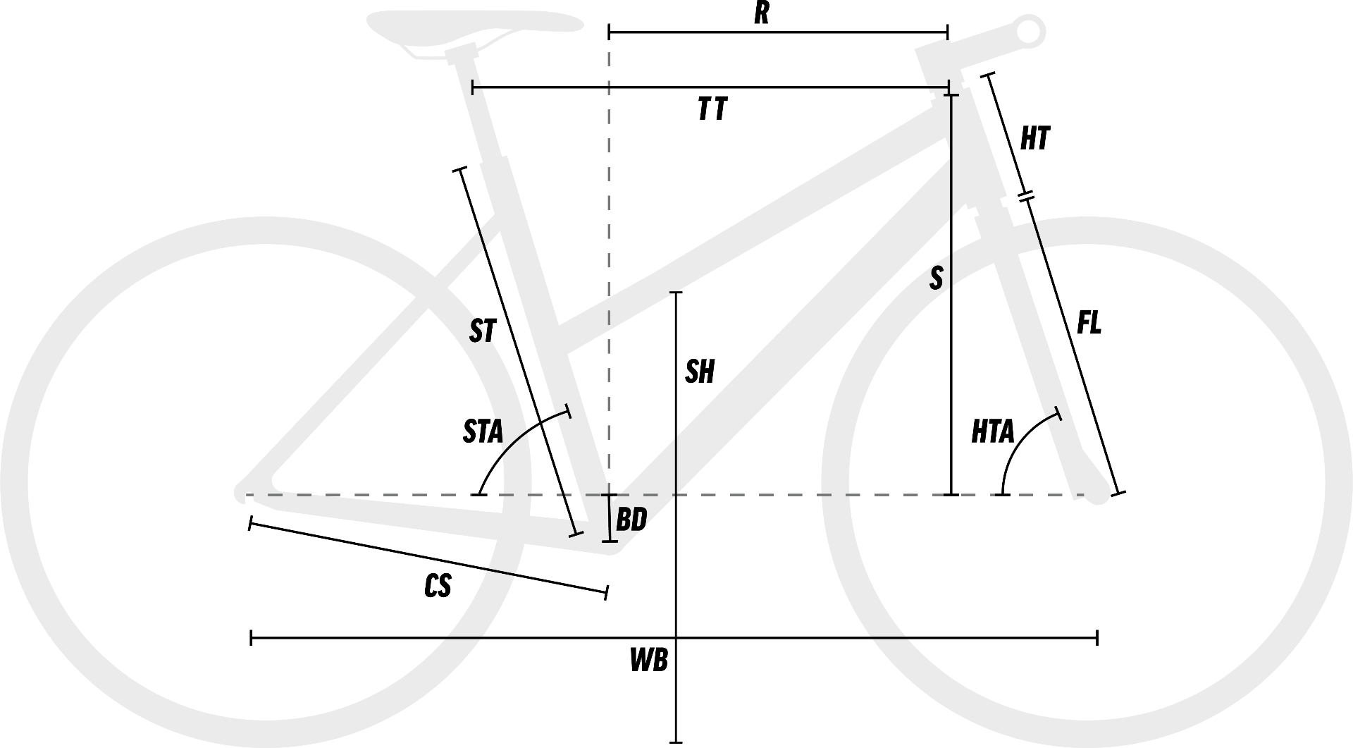 Womens Hybrid Sports Bike Geometry Diagram