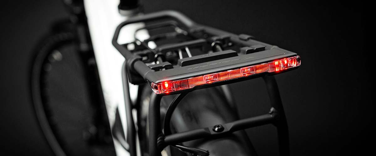 Merida Electric Bike with light bulit into pannier rack
