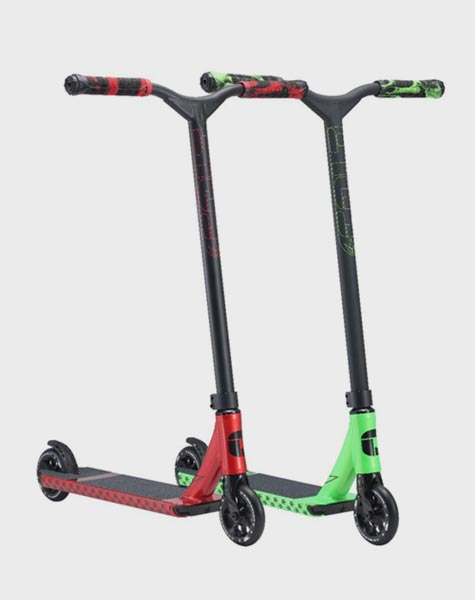 Red/Black/Green Envy S4 complete scooters