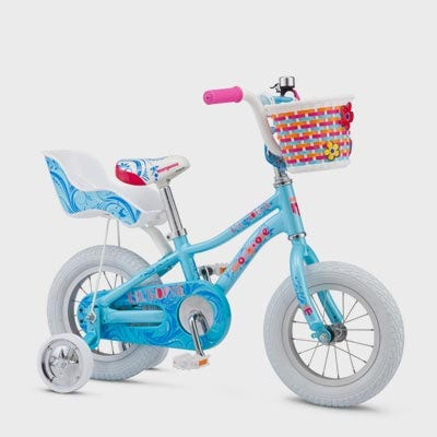 Mongoose 12in Lilgoose Girls Bike Blue (2019)