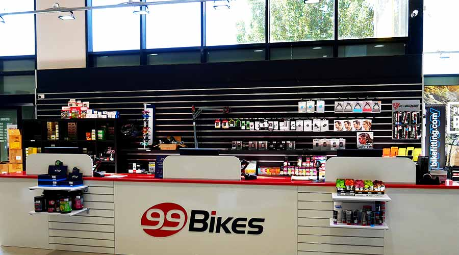 99 Bikes Airport West Counter
