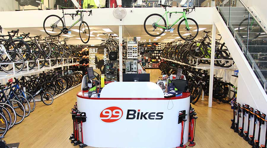 99 Bikes Castle Hill Bike Shop Front Counter