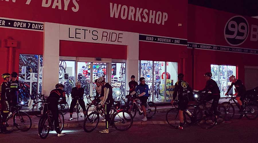 99 Bikes Marion Bike Shop morning shop ride