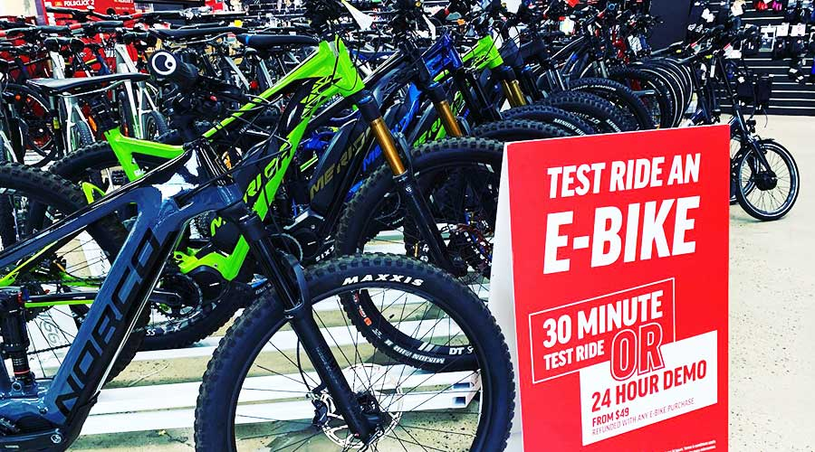 99 Bikes Marion Bike Shop test ride an electric bike